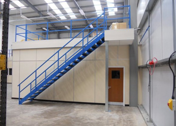 After close consultation, First Floors UK produced a mezzanine floor system  that was on-time and on-budget meeting stringent new Building Regulations.
